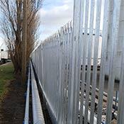 Protective fencing to keep out trespassers
